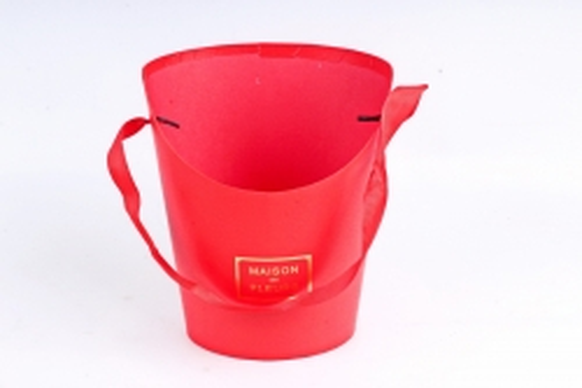 Кашпо-Коробка под цветы  красная (W6642) М 2854