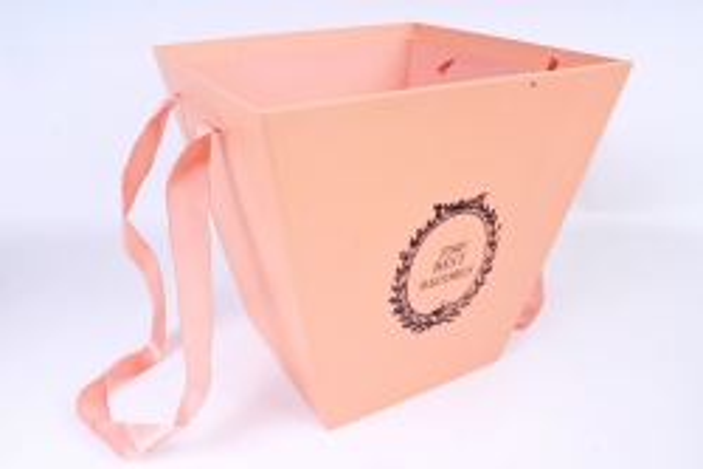 Кашпо-Коробка подарочная с ручками персик 6868 (Н)