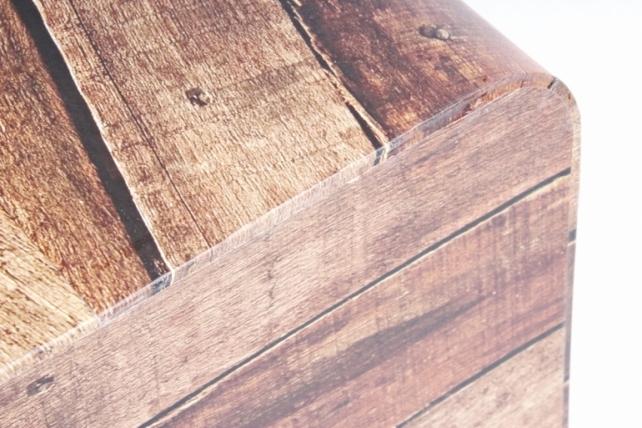 Кашпо-коробка Прямоугольник Цветочница Ореховый,(W7066) 8030