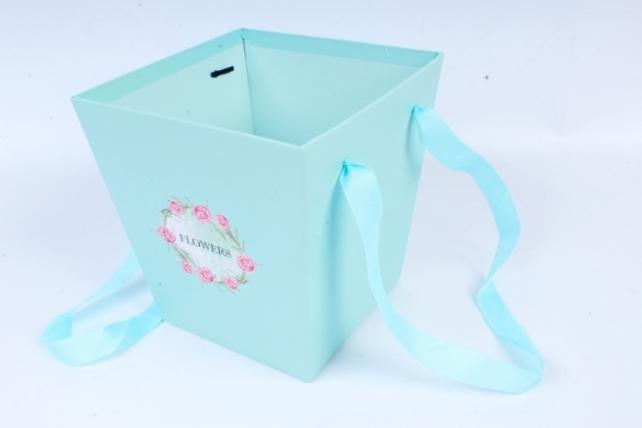 Кашпо-Коробка с ручками тифани 8387 (Н)