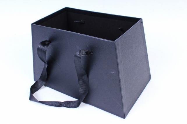 Кашпо-коробка Сумка подарочная черный  6943