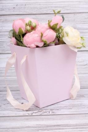 Кашпо-коробка трапеция орхидея 13*13/H=15см  К160