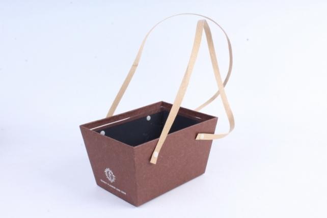 Кашпо-коробка  Прямоугольное коричневое  B210
