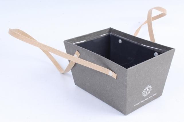 Кашпо-коробка  Прямоугольное серое  B210