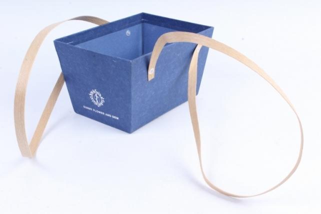 Кашпо-коробка  Прямоугольное синее B210