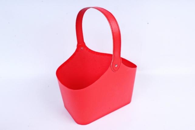 Кашпо-корзинка Красная   W9567   М