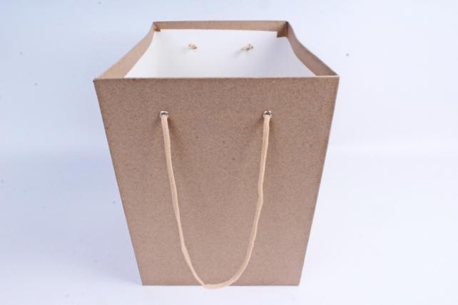 Кашпо-набор из 3шт коробок КРАФТ КОНУС с ручками  (М) ККЦ1-К