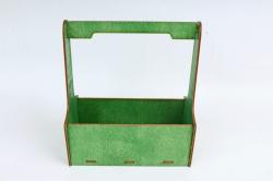 Кашпо-ящик (С) для цветов   Зеленый