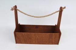 Кашпо-ящик (С) для цветов  Орех