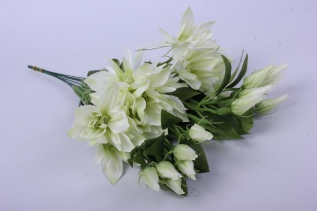 Искусственное растение - Клематис бело-салатовый 45см(12шт в уп) SUN500