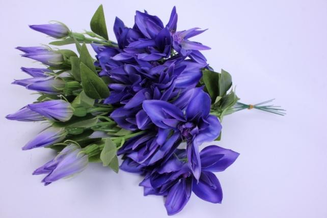 Искусственное растение - Клематис сиреневый 45см(12шт в уп) SUN500