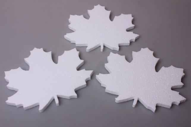 Кленовый лист - форма из пенопласта   (3шт в уп) 01-Л