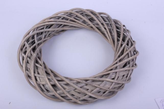 Кольцо декоративное Ива серое d=40 см КС-331