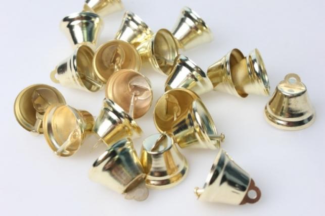 Колокольчики золотые d=2,6 см  (20шт. в упаковке)