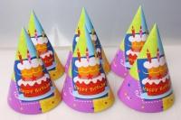 Колпак Торт Birthday (6шт в уп) 1501-1149