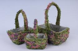 Комплект корзин из травы набор из 3-х 12483