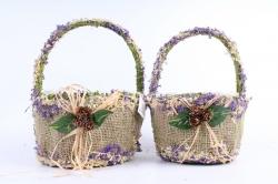 Комплект корзин из травы набор из 2-х шт  SL17070