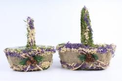Комплект корзин из травы набор из 2-х шт  SL17061