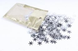 Конфетти 2cm, 15г, в асс., серебро  Снежинка CAA005110(А)