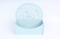 Конверт округлый с розами  МДФ 3мм, окрашен., Мурена светлый ПУ301-02-4444