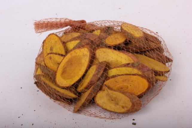 кора срез косой желтый в сетке