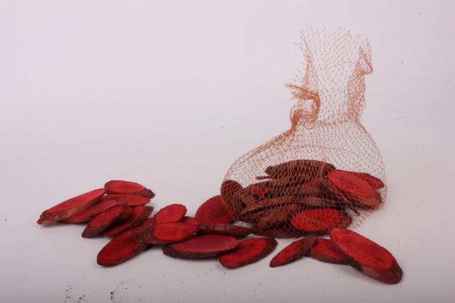 кора срез косой красный в сетке