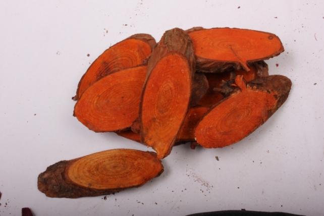 кора срез косой оранжевый в сетке