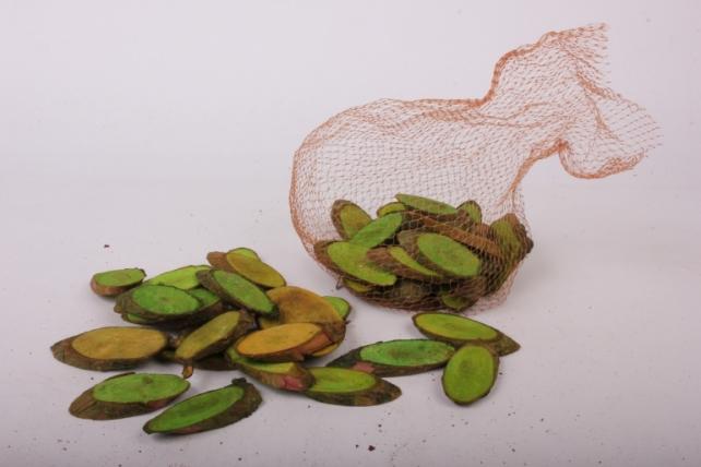 кора срез косой салатовый в сетке
