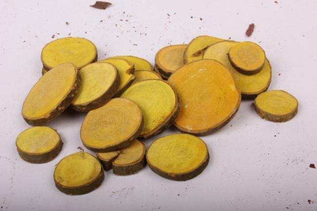Кора срез круглый желтый в сетке