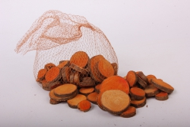 кора срез круглый оранжевый в сетке