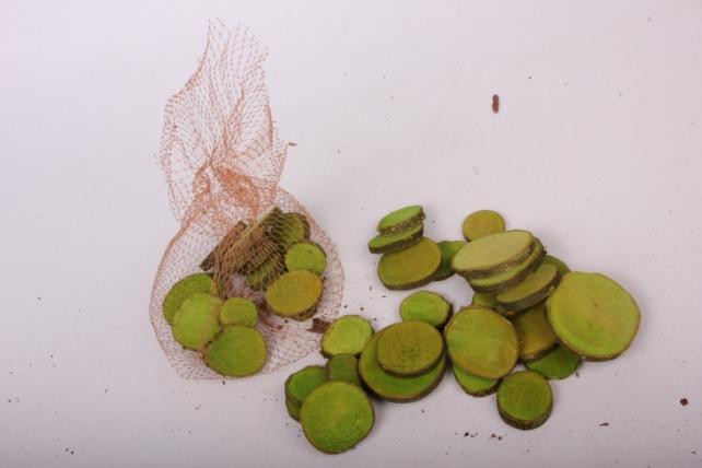 кора срез круглый салатовый в сетке