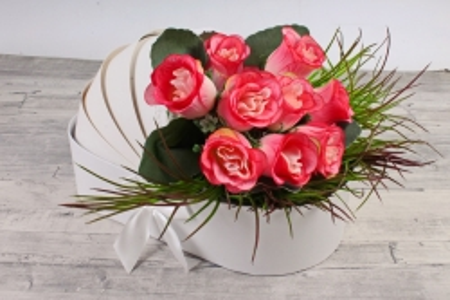 """Коробка для цветов """"Люлька"""",   белый (W9298) 2977 М"""