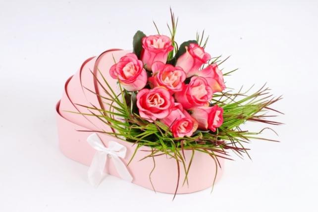 """Коробка для цветов """"Люлька"""",   розовый (W9297) 2960 М"""