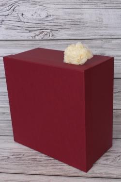 Коробка одиночная № 71-1 Квадрат 1 шт.Бордовый 26,5см*26,5см*14см  Пин71-1-Бо