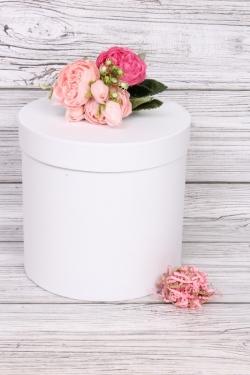 """Коробка одиночная подарочная - """"Цилиндр"""" Белый 20*20см Пин20/20-БЛ"""