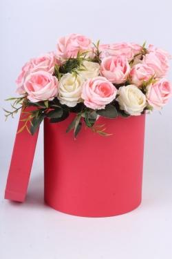 """Коробка одиночная подарочная - """"Цилиндр """"Красный"""" 18*18 Пин18/18-КР"""