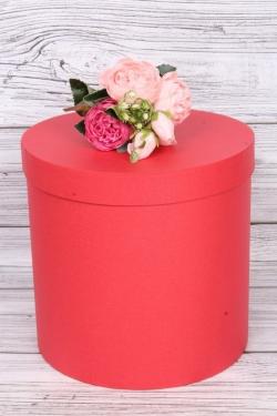 """Коробка одиночная подарочная - """"Цилиндр """"Красный КТ"""" 25*25 Пин25/25-ККТ"""