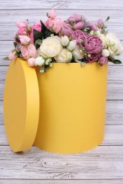 Коробка одиночная подарочная - Цилиндр Лимон 30*30см 1 шт.  460000030007 Пин30/30-Лим