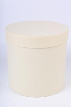 """Коробка одиночная подарочная - """"Цилиндр"""" Светложелтый 20*20  Пин20/20-СЖ"""