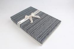 Коробка одиночная подарочная 1шт - Прямоугольник под рубашку черный  S599