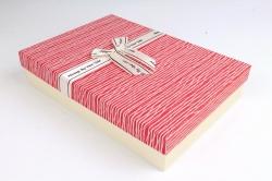 Коробка одиночная подарочная 1шт - Прямоугольник под рубашку красный S599
