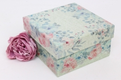 Коробка одиночная подарочная 1шт- Квадрат Цветы 12*12*6.5см 1шт 460000071910
