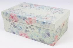 Коробка одиночная подарочная 1шт- Прямоугольник Цветы 21,5*13,5*8,5см 600000100501 М