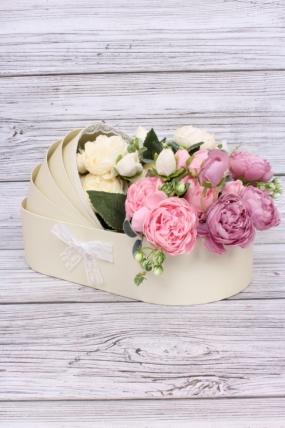 Коробка под цветы Коляска шампань  33*17, h=8*20см