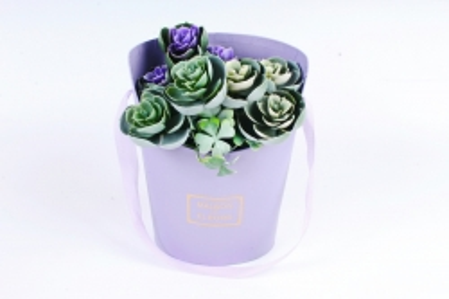 Коробка под цветы, с ручкой, фиолетовый (W6643) 2861 М