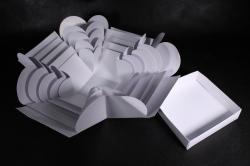 Коробка подарочная (1шт) Трансформер с сюрпризом куб Белый М16