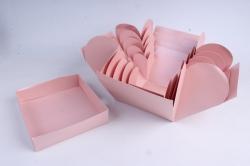 Коробка подарочная (1шт) Трансформер с сюрпризом куб Розовый  М16