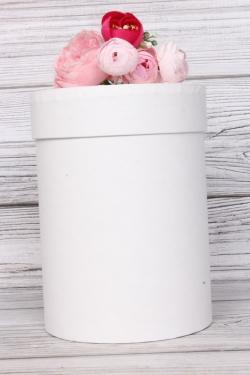 """Коробка подарочная одиночная - """"Цилиндр""""  13,5*19 Белый Пин13/19-БЕ"""