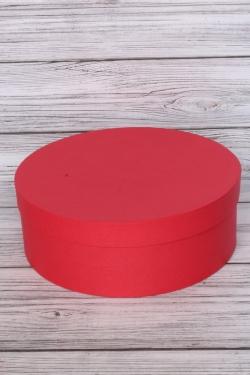 """Коробка подарочная одиночная - """"Цилиндр""""  30*11 Красный  Пин30/10-КР"""