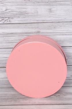 "Коробка подарочная одиночная - ""Цилиндр""  30*11 Перламутр розовый  Пин30/11-ПР"